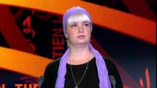 Polina Jerebtsova, auteure du livre «Le Journal de Polina» (Capture d'écran).