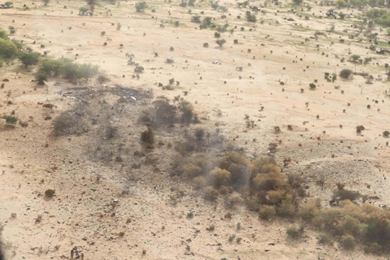Le site du crash du vol d'Air Algérie AH 5017 au nord du Mali.