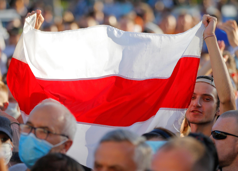 Стихийная акция в поддержку Светланы Тихановской в Минске 6 августа 2020.