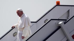 Le pape François au Caire (Egypte), le 28 avril 2017, pour un «voyage d'unité et de fraternité».