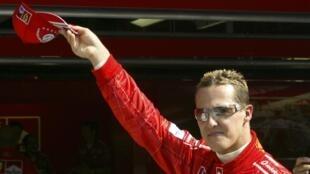 German race car driver Michael Shumacher in 2004.