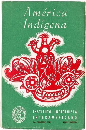 Portada de un número de la revista América Indígena de 1972