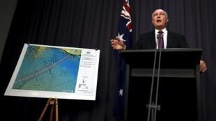 Phó Thủ tướng Úc Warren Truss trong cuộc họp báo tại Nghị viện, Canberra, ngày 03/12/2015