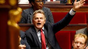 Fabien Roussel, ici à l'Assemblée nationale le 16 octobre 2018, secrétaire général du PCF.