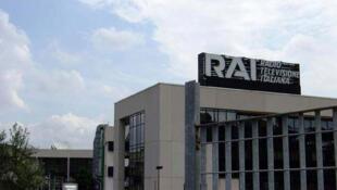 Le siège de la Radio télévision italienne, la Rai à Rome.