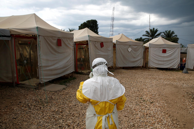 Vituo vya huduma ya dharura katika kituo cha matibabu cha Ebola cha shirika la matibabu la kibinadamu la Alima Beni, mashariki mwa DRC.