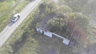 """Vista aérea del rancho donde se encontró la """"narcofosa"""" de San Fernando en Tamaulipas, México 24 de agosto de 2010. (foto de archivos)"""
