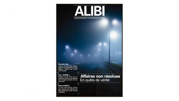 """Couverture de la revue """"Alibi""""."""