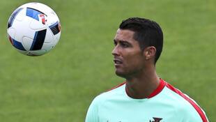 Cristiano Ronaldo, a estrela da Selecção Portuguesa.