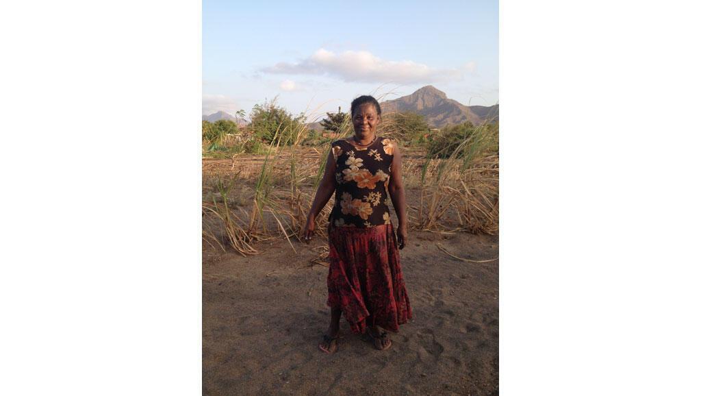 Ricardina, paysanne capverdienne.