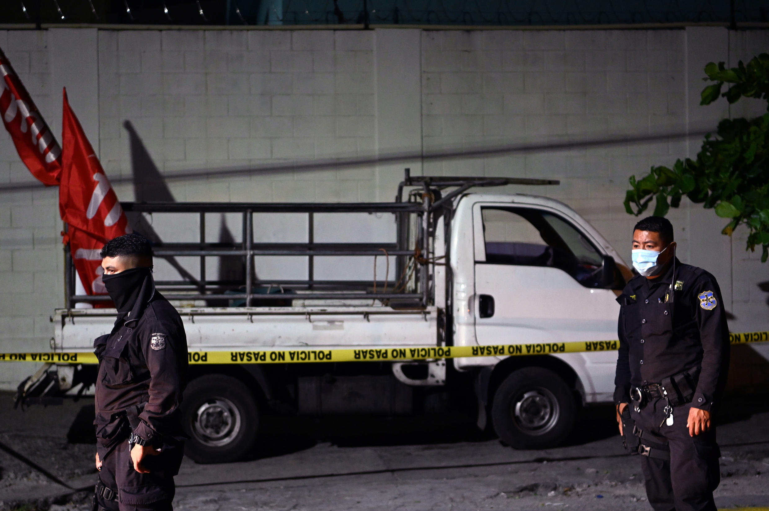 Two activists were killed and five wounded in El Salvador's capital on Sunday after an assailant opened fire on members of the leftist FMLN party