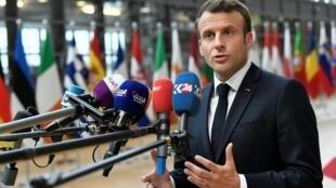 法国总统马克龙。
