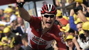 André Greipel, gana en la segunda etapa del Tour de Francia 2015 entre las localidades holandesas de Utrecht y Zélanda.