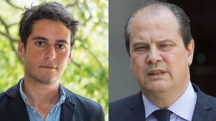 Gabriel Attal et Jean-Christophe Cambadélis.
