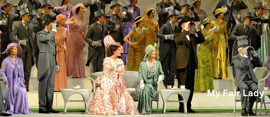 """O musical """"My Fair Lady"""" fica em cartaz no teatro do Châtelet, em Paris, até o dia 1° de janeiro."""