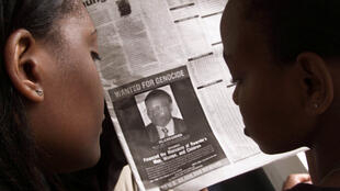 A 2002 ad in a Kenyan newspaper of Félicien Kabuga, 'wanted for genocide'.