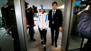 Россиянка Ольга Фаткулина входит в здание конференц-центра Женевы, где проходит заседание CAS.