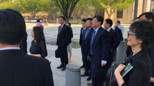 Négociations commerciales Chine-Etats-Unis le 23 août 2018 à Washington.
