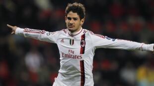 O atacante brasileiro Pato, do Milan.