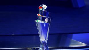 Le trophée de la nouvelle Ligue des Nations a été dévoilé par Aleksander Ceferin, président de l'UEFA, le 24 janvier 2018.