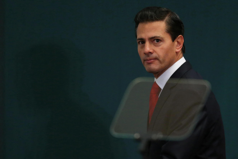 Rais wa Mexico Enrique Peña Nieto, hapa Januari 23, 2017 katika mji wa Mexico.