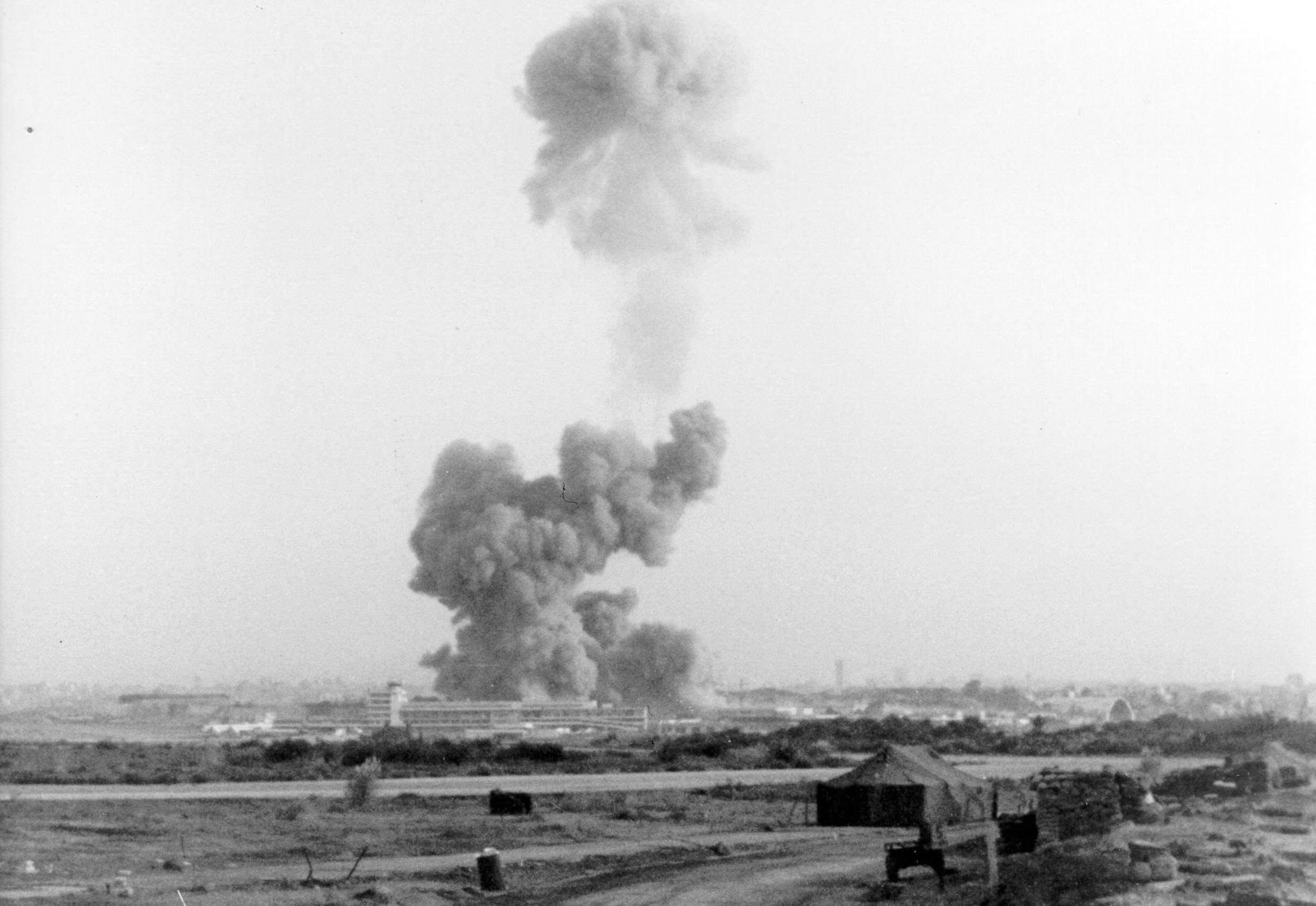 """The 1983 explosion of the Marine Corps building in Beirut, Lebanon, created a large cloud of smoke that was visible from miles away. The attack killed 307 people: 241 U.S. and 58 French military personnel, six civilians, and two attackers.The US accused Iran of being behind the bombing and called the country a """"sponsor of international terrorism"""" one year later."""