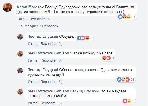 Депутат Леонид Слуцкий обсуждает обвинения в домогательствах в фейсбуке
