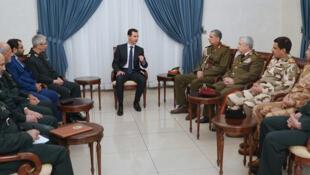 نشست فرماندهان نظامی ایران، سوریه و عراق در دمشق با حضور بشار اسد