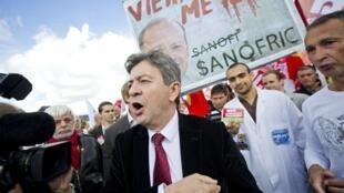 El líder del Frente de Izquierda, Jean-Luc Mélenchon, en septiembre de 2012 en Toulouse.