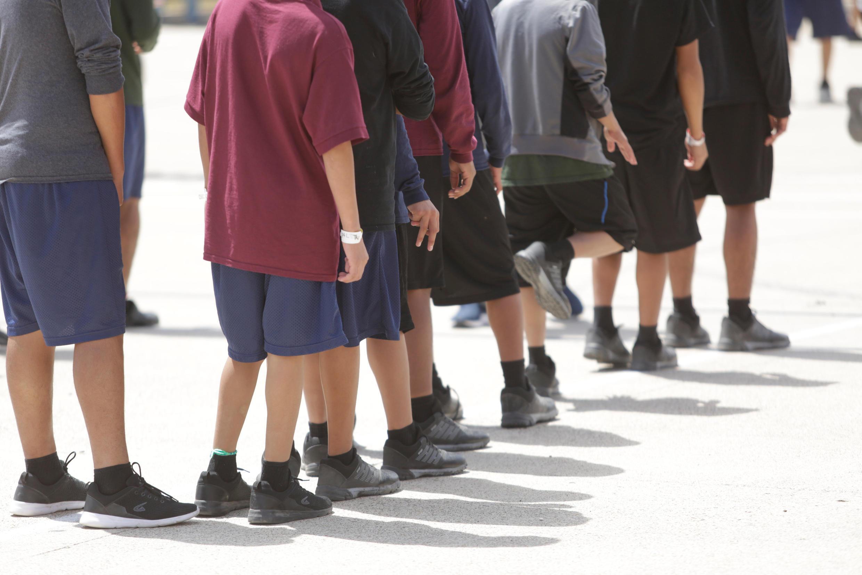 Menores de edad en Brownsville, Texas. Estados Unidos, el 14 de junio de 2018.