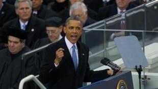 سخنرانی امروز باراک اوباما پس از مراسم سوگند. واشنگتن ٢بهمن/ ٢١ ژانویه ٢٠١٣