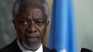 کوفی عنان فرستاده مشترک سازمان ملل متحد و اتحادیه عرب برای سوریه