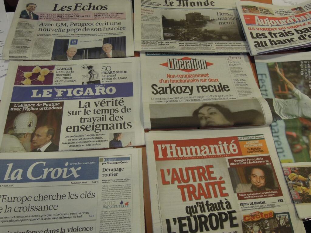 Diários franceses 01/03/2012