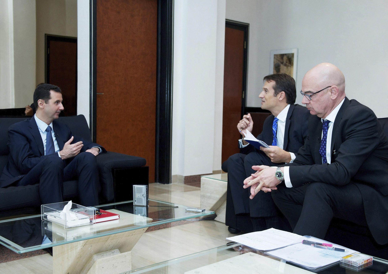O presidente da Síria, Bashar Al-Assad, durante entrevista para Der Spiegel em Damasco, 7 de outubro de 2013