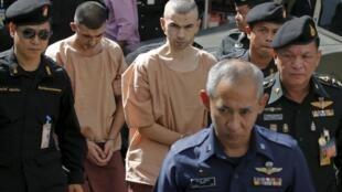 Hai nghi phạm vụ đánh bom khủng bố tại Bangkok tháng 08/2015.