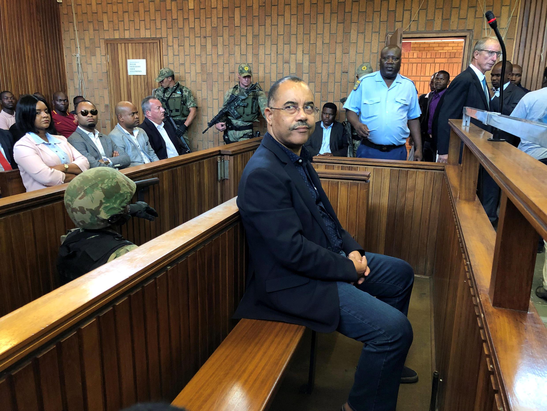 Manuel Chang, ex ministro moçambicano das finanças, no tribunal sul-africano de Kempton Park a 31 de Janeiro de 2019.