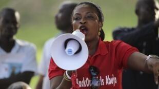 Les manifestations réclamant le retour des lycéennes enlevées par Boko Haram sont devenues quotidiennes au Nigeria. Ici, lors d'un sit-in à Abuja, le jeudi 15 mai.