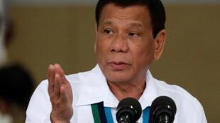 菲律宾总统杜特尔特, 2017年10月26日资料图片