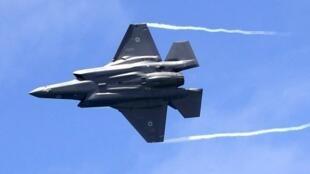 یک هواپیمای جنگنده  F-35 اسرائیلی، در ٩ مه ٢٠۱٩ در یک نمایش هوایی در تل آویو