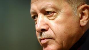 Tổng thống Thổ Nhĩ Kỳ Recep Tayyip Erdogan. Ảnh chụp 17/12/2019, tại trụ sở Liên Hiệp Quốc ở Geneva.