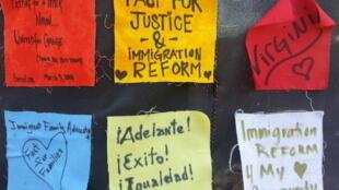 Palabras en defensa de la reforma migratoria, en un acto frente al Congreso estadounidense.