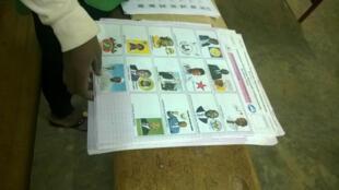 Presidential ballot paper, Lycee le reveil polling station in Ouagadougou, 29 November 2015