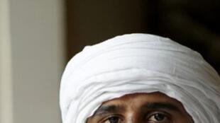 Ag Acharatoumane, porte-parole du MSA (Mouvement pour le salut de l'Azawad) au Mali.