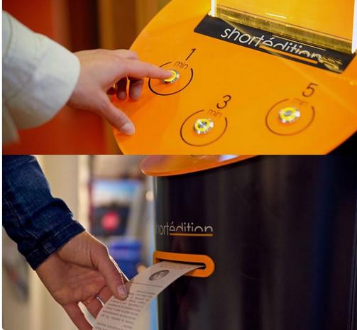 Máquina expendedora de literatura.