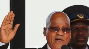 Le président sud-africain Jacob Zuma, le 24 mai 2014.