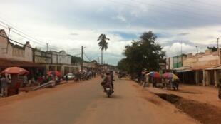 Moja ya mitaa ya mji wa Kalemi, katika mkoa wa Tanganyika, DRC, Machi 25, 2016.