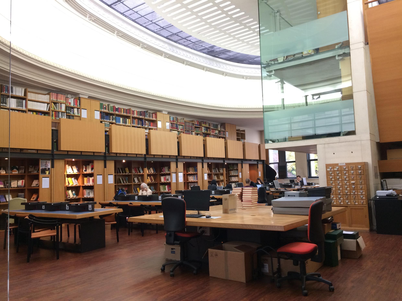 Phòng đọc thư viện của EFEO, Paris.