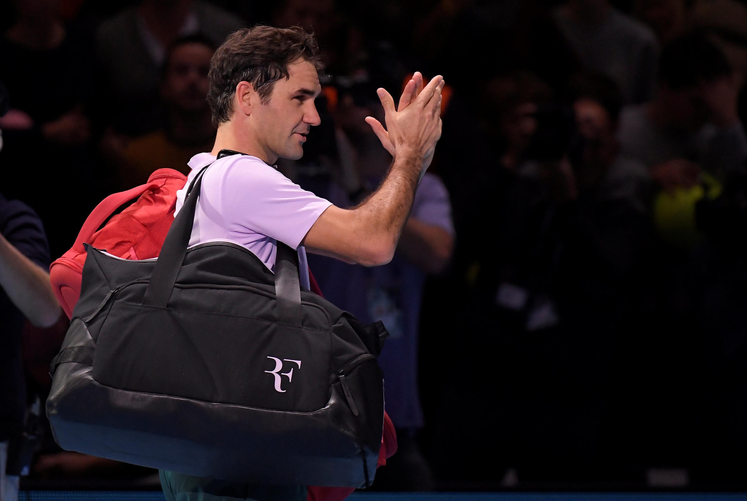 Roger Federer was seeking a seventh crown at the end of season championships.