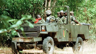 A Senegalese army patrol in Casamance