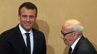2018年1月31日至2月1日法国总统马克龙访问突尼斯受到该国总统埃塞卜西(Beji Caid Essebsi )的接待.